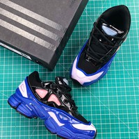 Raf Simons X Adidas Consortium Ozweego 2 Blue Black Sport Running Shoes - Best Online Sale