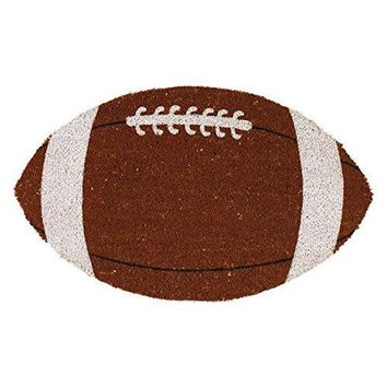 Football Shaped Coir Doormat