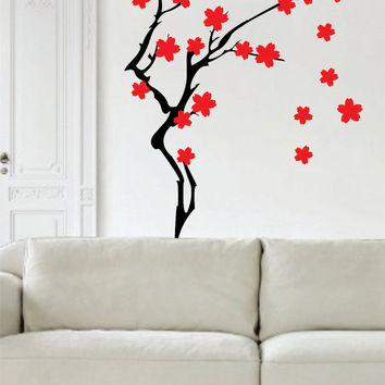 Cherry Blossom Tree Version 2 Branch Decor Nature Decal Sticker Wall Vinyl Art Design