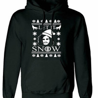 Let is Snow Game of Thrones You know nothing jon snow unisex womens mens ladies  print  Hoodie sweatshirt pullover, jumper sweater pocket