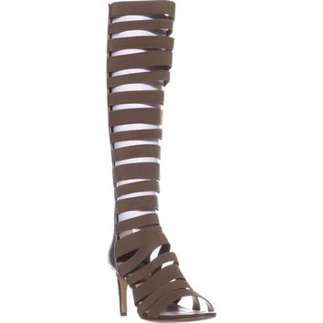 Charles Charles David Zoey Zip Gladiator Sandals, Dark Taupe, 6 US