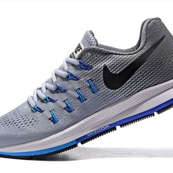 NIKE fashion casual breathable running shoes Cold gray-black