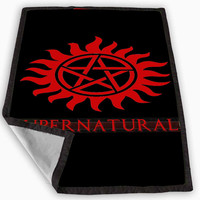 supernatural-Tattoo Logo Blanket for Kids Blanket, Fleece Blanket Cute and Awesome Blanket for your bedding, Blanket fleece *