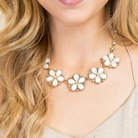 Poppy Floral Statement Necklace