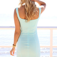 SABO SKIRT  Vibe Bodycon Dress - Mint - $48.00