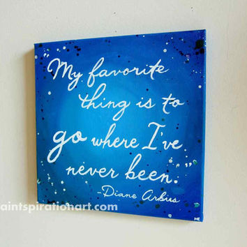 Quote Art Travel Wall Art Canvas Quote Painting - Sayings on Canvas Affordable Art - Wanderlust Art Canvas Wall Hanging - Typography Artwork