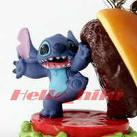 Tomy Disny capsule world Lilo & Stitch mobile strap A