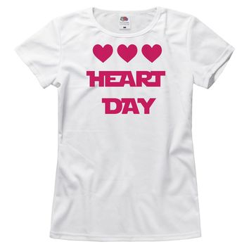 Pink Heart Day Womens Tee
