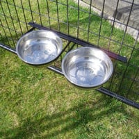 Lucky Dog Stationary Dog Bowl System - Stainless Steel - Bowls & Feeding Accessories - PetSmart