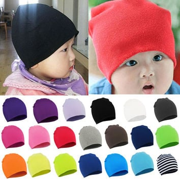 2014 Fashion Style New Unisex Newborn Baby Boy Girl Toddler Infant Cotton Soft Cute Hat Cap Beanie Cindy Colors