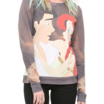 Disney The Little Mermaid Ariel & Eric Crew Pullover