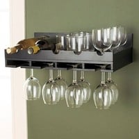Wall Wine Rack - Black