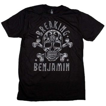 Breaking Benjamin Crossbone Skull T-Shirt