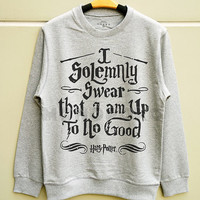 S M L -- I Solemnly Swear Shirts Harry Potter Sweatshirt Tee Jumpers Long Sleeve Shirts Sweater Unisex TShirts Women TShirts Men TShirts