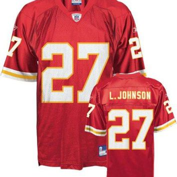Larry Johnson Jersey: Reebok Red Replica #27 Kansas City Chiefs Jersey
