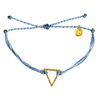 Gold Hammered Triangle Columbia Blue