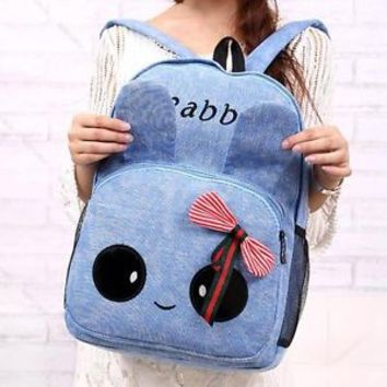 Girl Women Cute Canvas Travel Satchel Backpack School Bag #G Rucksack Bookbags