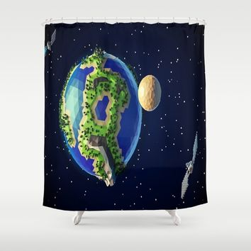 Earth planet Shower Curtain by abeerhassan