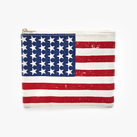 American Flag Graphic Pouch