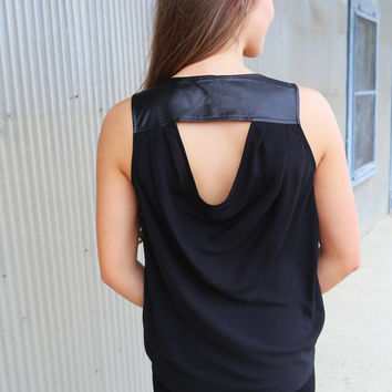 Hint Of Leather Tank