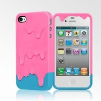 Melt Case for iPhone 4/4S - Pink/Blue:Amazon:Cell Phones & Accessories