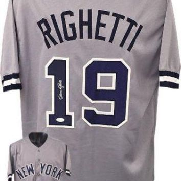 ONETOW Dave Righetti Signed Autographed New York Yankees Baseball Jersey (JSA COA)