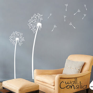 Dandelion Wall Decal Dandelion Wall Sticker by WallConsilia