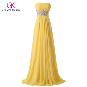 2017 Beautiful Beaded Yellow cheap Long Chiffon Bridesmaid Dresses under 50 Sequin Wedding Party Dress Floor Length Prom gowns