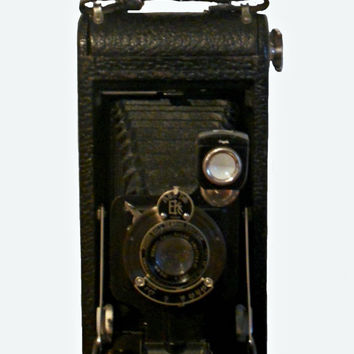Vintage Kodak Camera 1920d No. 1A Autographic Kodak Junior with Original Eastman Kodak Instructional Booklet 1921