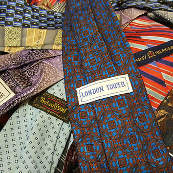 Vintage Mystery Neck Tie - Grab Bag - Surprise - Neck Tie - Suit and Tie - Instant Pizzazz - Fancy Pants - Silk Tie