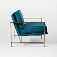 Metal Frame Upholstered Chair - Luster Velvet