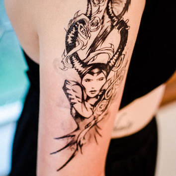 Maleficent Temporary Tattoo