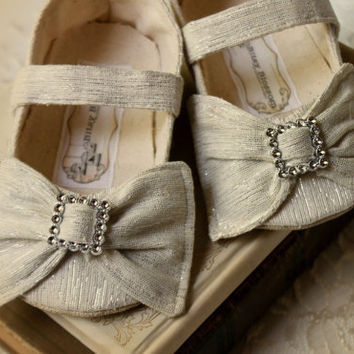 Baby Shoes-Soft Soled-Aurelia-Sizes 1-4 Wedding/Flower Girl