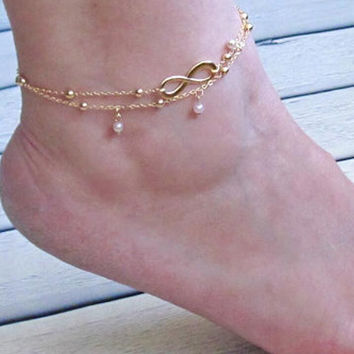 2Pcs Infinite Anklet