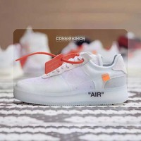 NIKE AIR FORCE ONE AF1 Low & Off White MEN SNEAKER