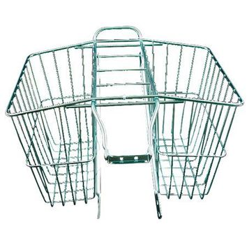 Wald 520 Rear Twin Bicycle Carrier Basket (13.5 x 6.25 x 11)