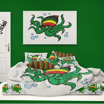 Rasta Octopus Comforter Surf and Beach Lifestyle Bedding