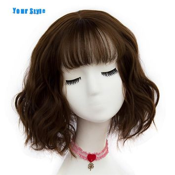 Your Style 43 colors Synthetic Short Wavy BOB Wigs Womens Brown Black Blonde Natural Hair Wigs Female Heat Resistant Fiber