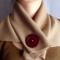 Camel cowl neck scarf by AliceCloset on Etsy