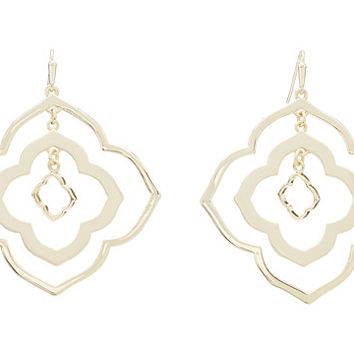 Kendra Scott Darenda Earring Gold Metal - Zappos.com Free Shipping BOTH Ways