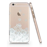 Snow Flake Merry Christmas Slim Transparent Iphone 6 6s Case, Clear Iphone Hard Cover Case For Apple Iphone 6 6s Emerishop (VAE166.6sl)