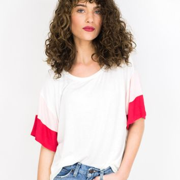 Color Block Sleeve Tee