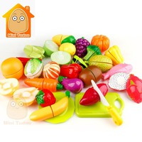 Girl Toys For Kids Cut Vegetables Toy Plastic Fruit Pretend Play Food Baby Kitchen Toys Miniature Food Game For Girls And Boys