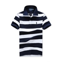 Men's Fashion Stripes Short Sleeve Tops [10775754243]