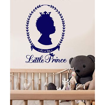 Vinyl Wall Decal Children's Room Little Prince For Boy Crown Stickers (2657ig)