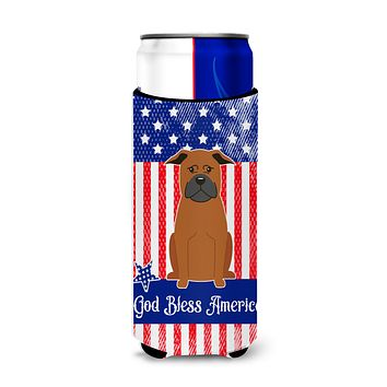 Patriotic USA Chinese Chongqing Dog Michelob Ultra Hugger for slim cans BB3106MUK