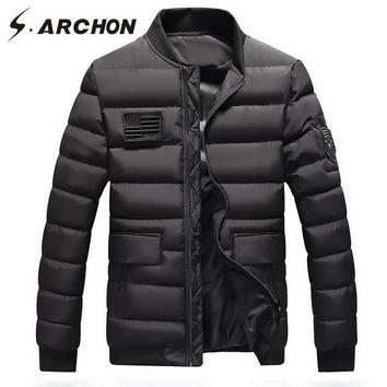 Trendy S.ARCHON Winter Air Force Pilot Parka Jackets Men Warm Thick Windproof Military Tactical Parka Clothes US China Flag Patch Coat AT_94_13