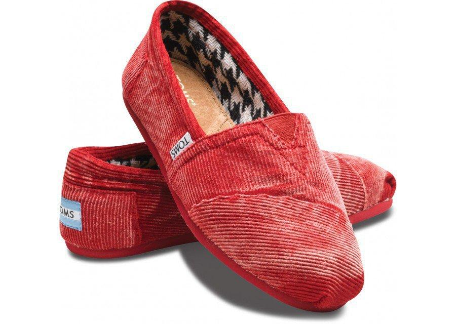 Last Chance - Red Stone-Washed Cord Women's Classics | TOMS.com