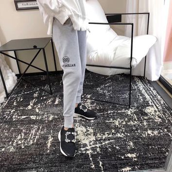"""""""Balenciaga"""" Women Casual Simple Letter Embroidery Sweatpants Leisure Pants Trousers"""