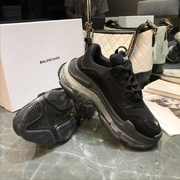 Balenciaga  Men Casual Shoes Boots  fashionable casual leather